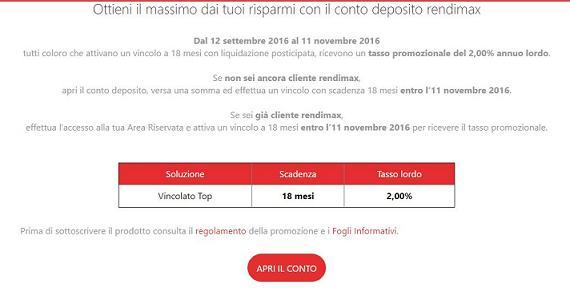 RENDIMAX offre il tasso al 2% a 18 mesi per nuovi/vecchi clienti [scaduta il 25/11/2016] Aaa10