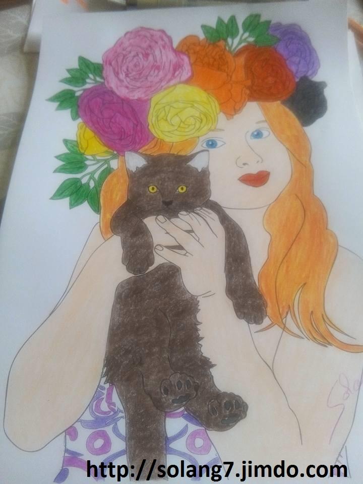 coloriage pour adulte ; mes creations 14517312