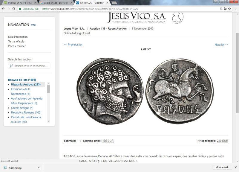 Subastas Jesús Vico 7/11/13, Aureo 3/6/15, José A.Herrero 16/10/03 :denario Arsaos Sin_ty37