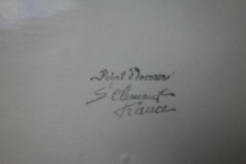 St Clement, France, majolica plate  Dsc01712