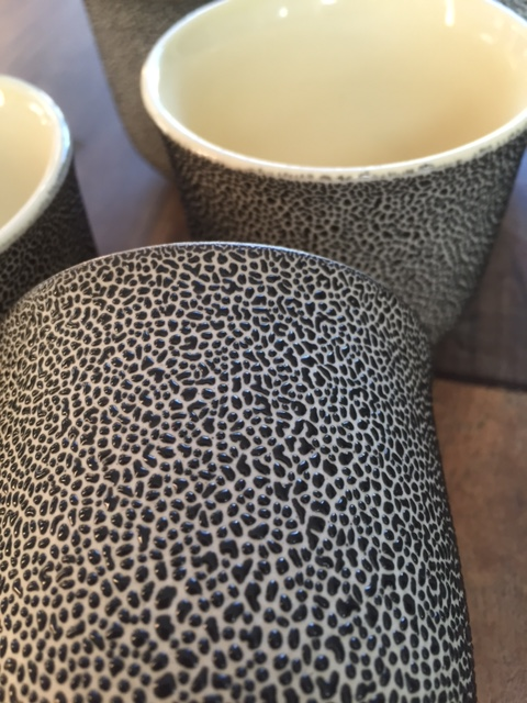 Oil drop or leopard skin' teapot and beakers - Japanese  Img_0811