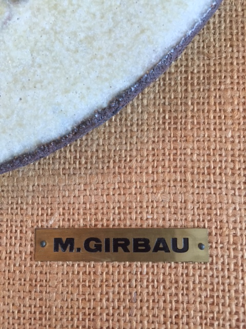 Trying to identify the M.Girbau who made this beautiful pottery wall plaque Img_0911