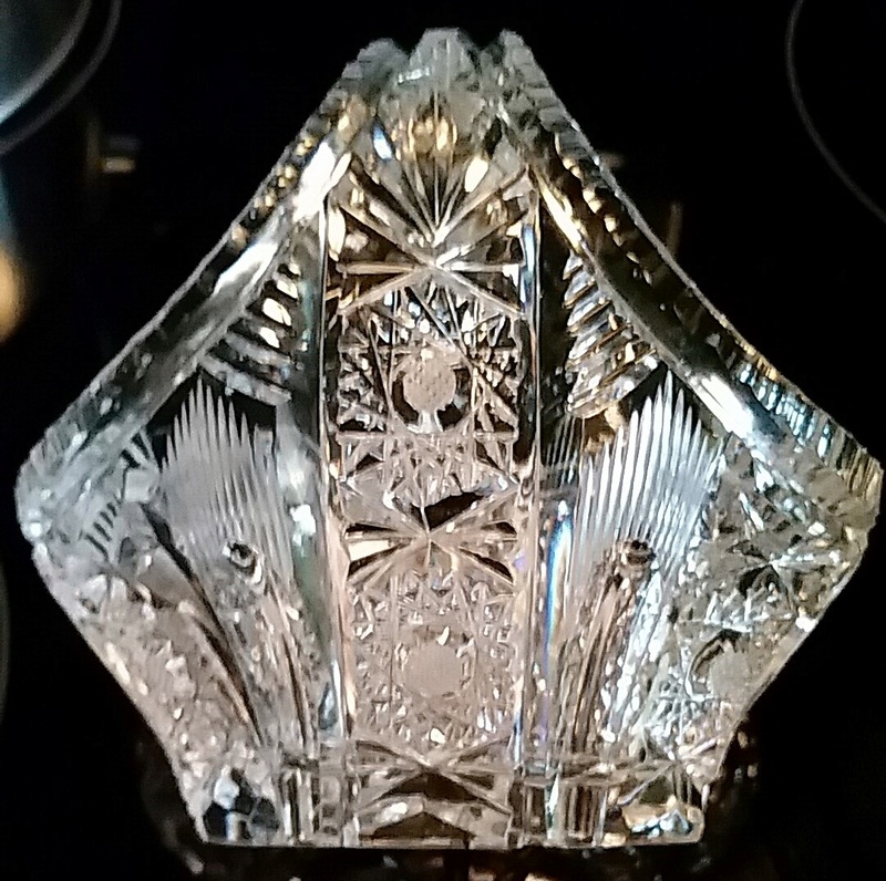 Crystal or Glass. Waterford Glass maybe?? Bowl710