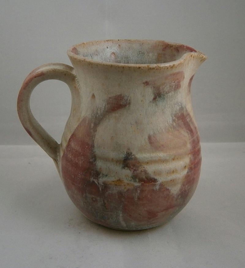 pinkish swirls stoneware with signature P9090410