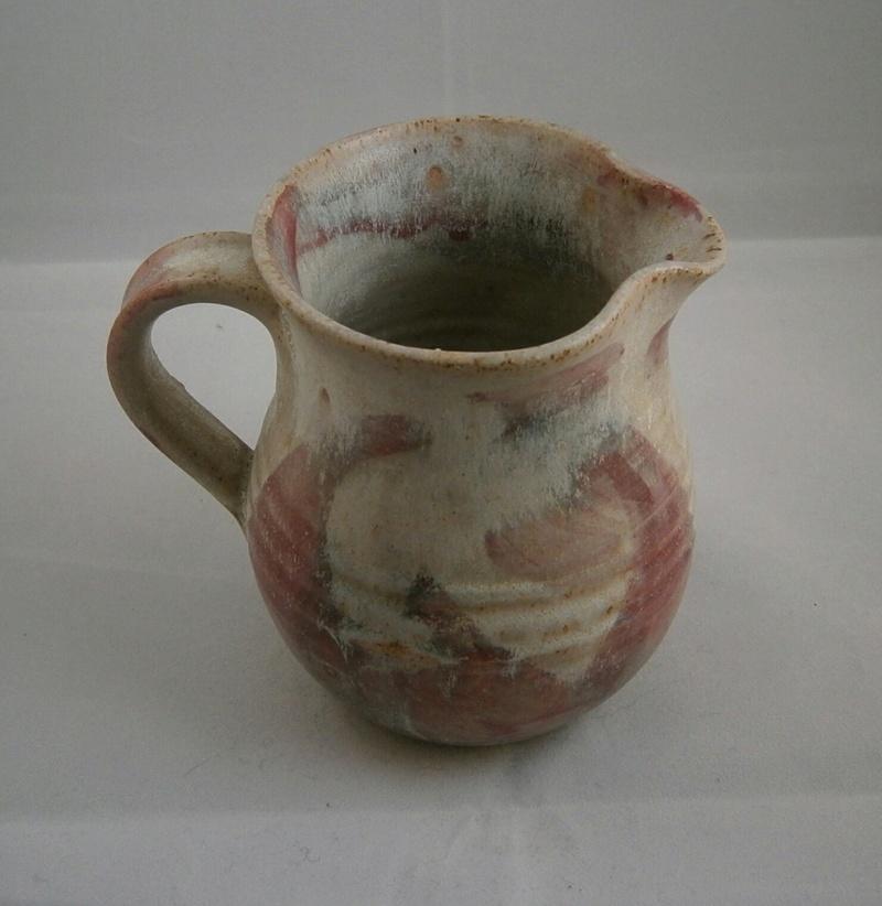 pinkish swirls stoneware with signature P9090411