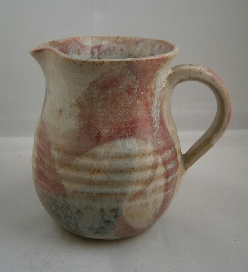 pinkish swirls stoneware with signature P9090412