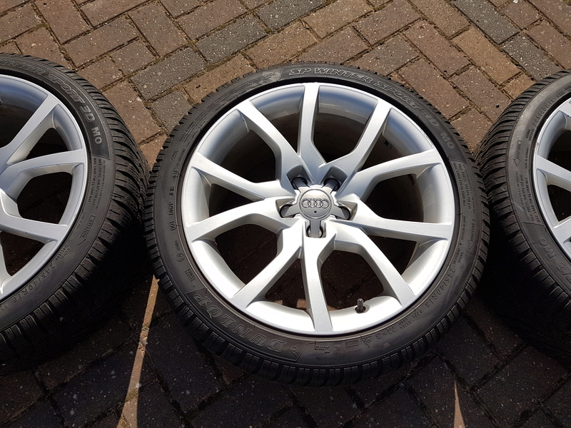 "[SOLD] 4 x Winter Tyres & Audi 18"" Rims from my Audi A5 20161020"