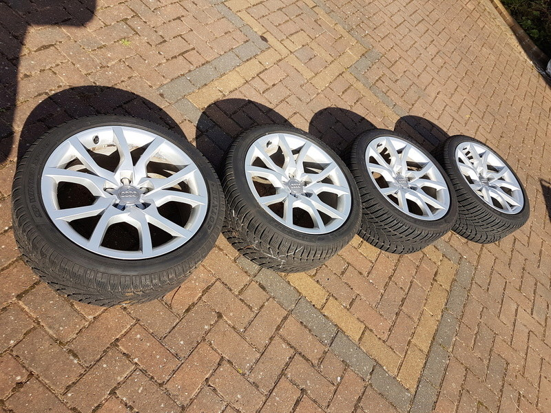 "[SOLD] 4 x Winter Tyres & Audi 18"" Rims from my Audi A5 20161022"