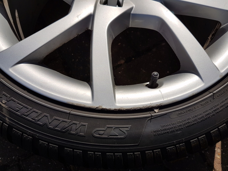 "[SOLD] 4 x Winter Tyres & Audi 18"" Rims from my Audi A5 20161025"