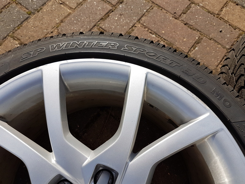 "[SOLD] 4 x Winter Tyres & Audi 18"" Rims from my Audi A5 20161028"
