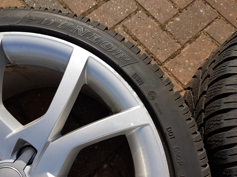 "[SOLD] 4 x Winter Tyres & Audi 18"" Rims from my Audi A5 20161030"