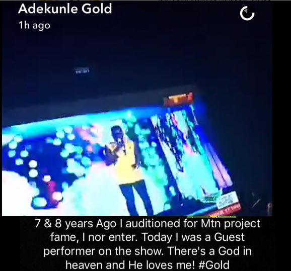 """Wow: I Failed Mtn Project Fame Audition Twice, Today I'm On It As Guest Performer"""" – Adekunle Gold Untitl10"""
