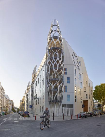 Photographe : Prise de vues du bâtiment angle 23 rue de Meudon / rue Marcel Bontemps (Îlots B5C B5D) Previe10