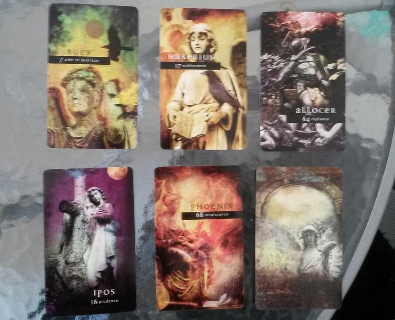 """L'oracle divinatoire """"Les anges déchus"""" de Nigel Suckling 20161016"""
