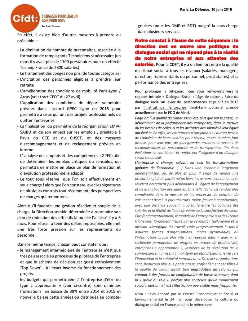 (2016-06-10) - LE CLIMAT SOCIAL DE TECHNIP N'EST PAS À LA HAUTEUR DES DÉFIS QUI NOUS ATTENDENT  2016-022