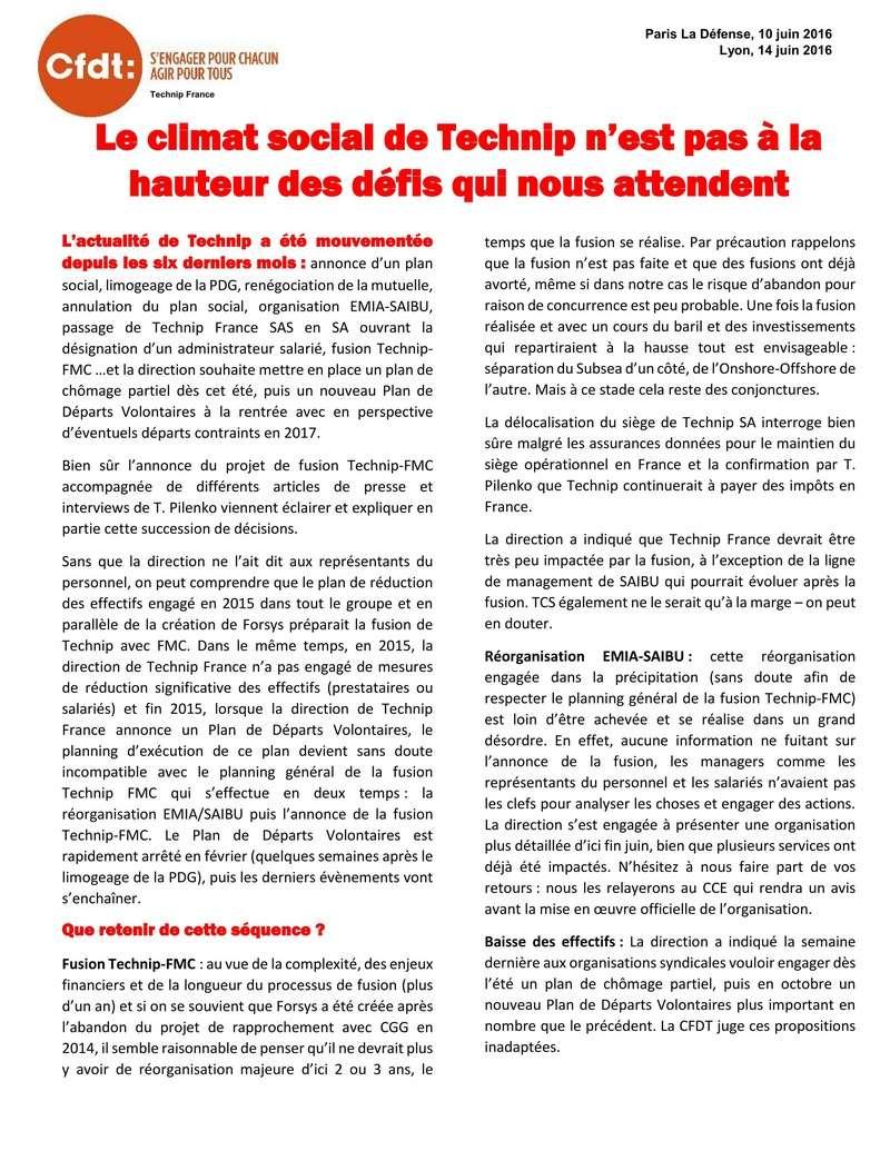 (2016-06-14) - LE CLIMAT SOCIAL DE TECHNIP N'EST PAS À LA HAUTEUR DES DÉFIS QUI NOUS ATTENDENT  Tract_13