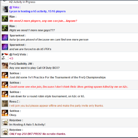 Random Chatbox Archive History - October 2016 Chat Box Archive...  Double12