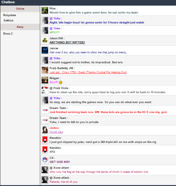 Random Chatbox Archive History - October 2016 Chat Box Archive...  G10