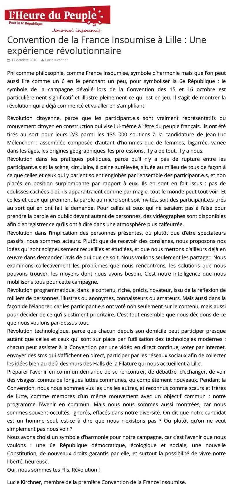 CONVENTION DE LA FRANCE INSOUMISE À LILLE Conven10