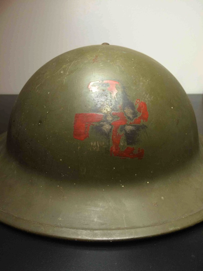 Help identify a Sauwastika Marked/Painted Canadian MkII Helmet Img_2613