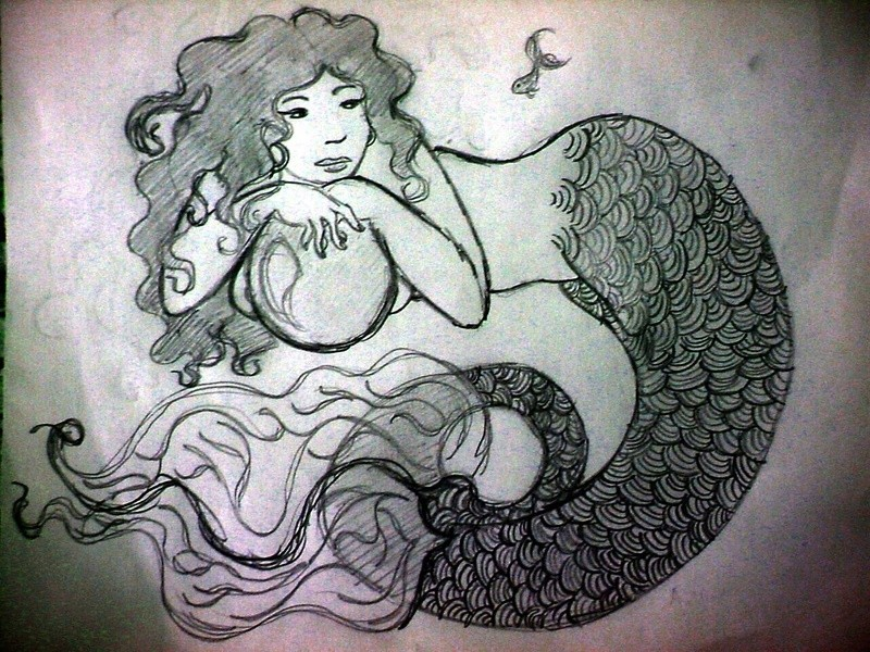 "Dessin : ""Little mermaid"" Little10"