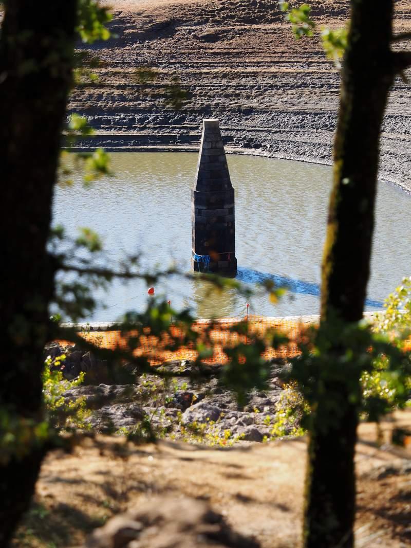 Vidange du lac de St Ferreol Cand2115