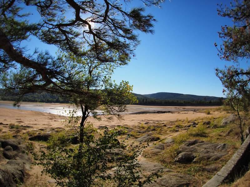 Vidange du lac de St Ferreol Cand2117