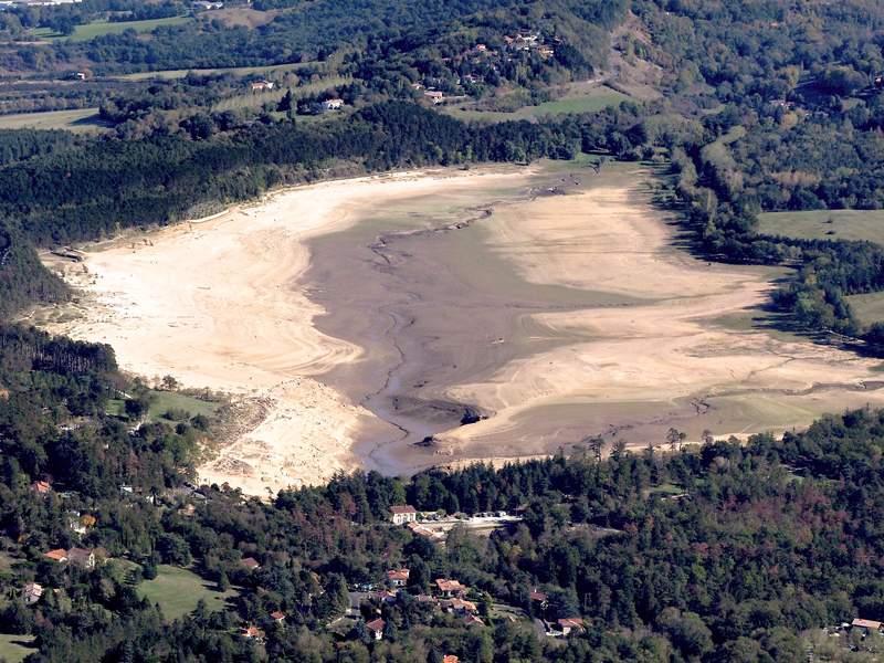 Vidange du lac de St Ferreol Cand2210