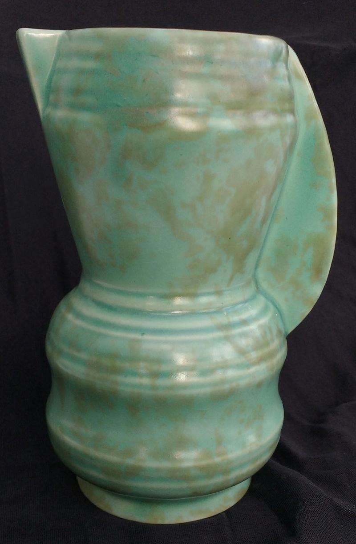 Small green deco-ish English jug vase Img_2017