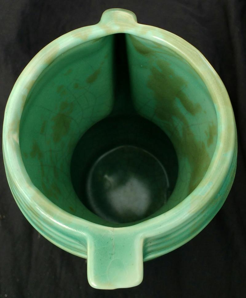 Small green deco-ish English jug vase Img_2019
