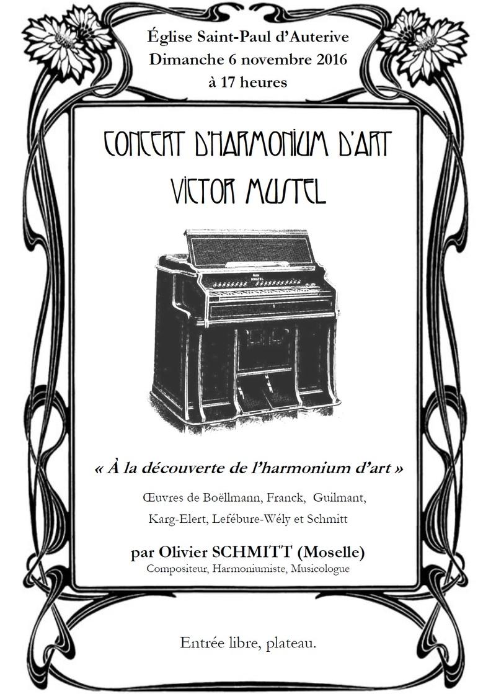 Auterive, église Saint-Paul, le 6 novembre 2016 à 17 heures : A la découverte de l'Harmonium d'Art Inaugu10