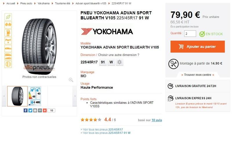 Avis Pneu Hankook V12 Evo2 et Yokohama Advan Sport 110
