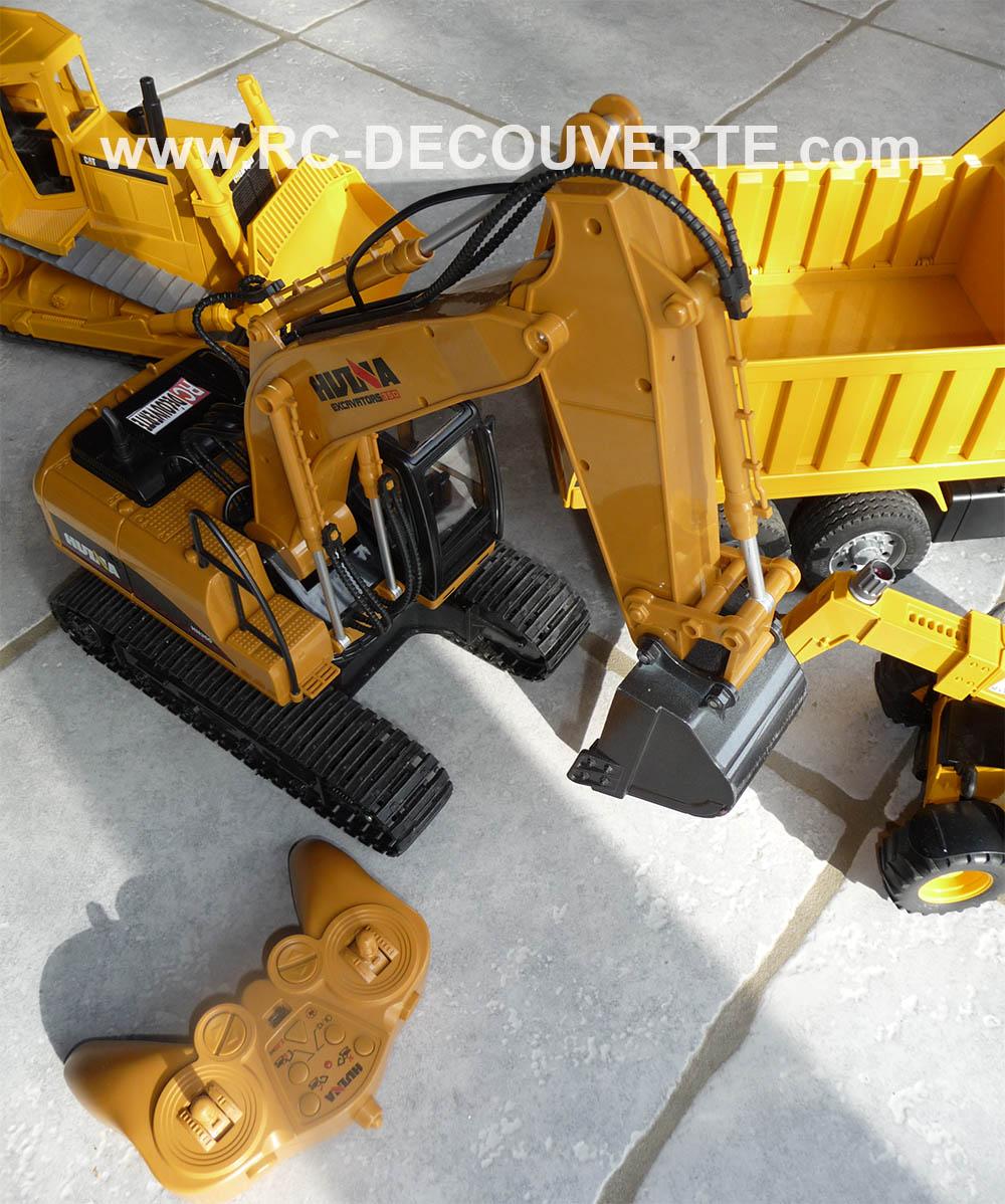 Pelleteuse Huina Toys 1550 Metal Excavator 1/14 Pellet13