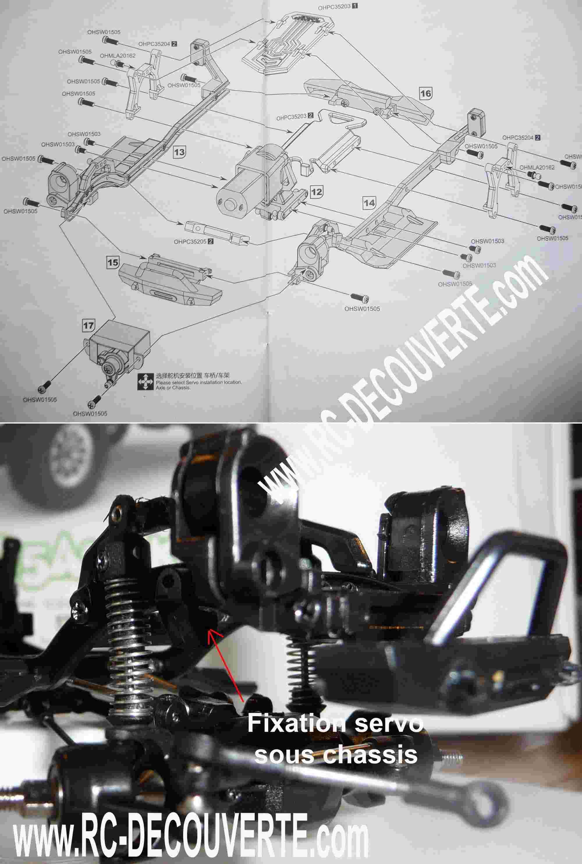 Orlandoo OH35A01 Kit Jeep 1/35 mini crawler présentation découverte montage et essai Servo-11