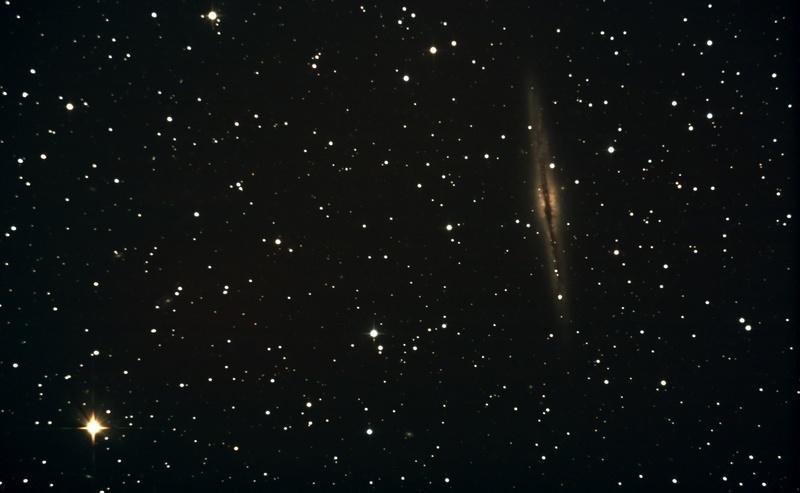 NGC891 au Dobson 400 mm et table équatoriale Ngc89110