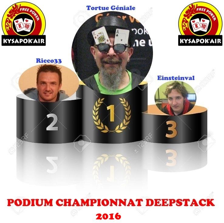 Classement général du championnat Deepstack 2015/2016 110