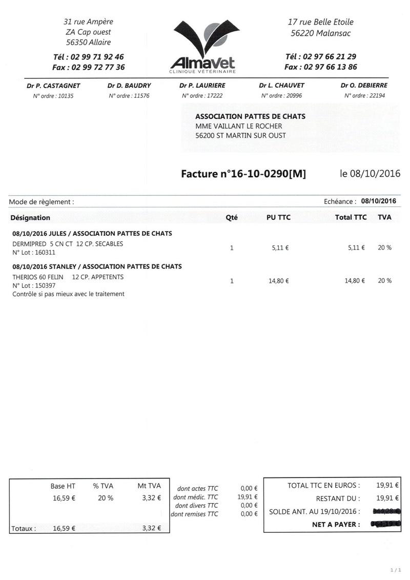 aide factures vétérinaire pour pattesdechats Ccf19111