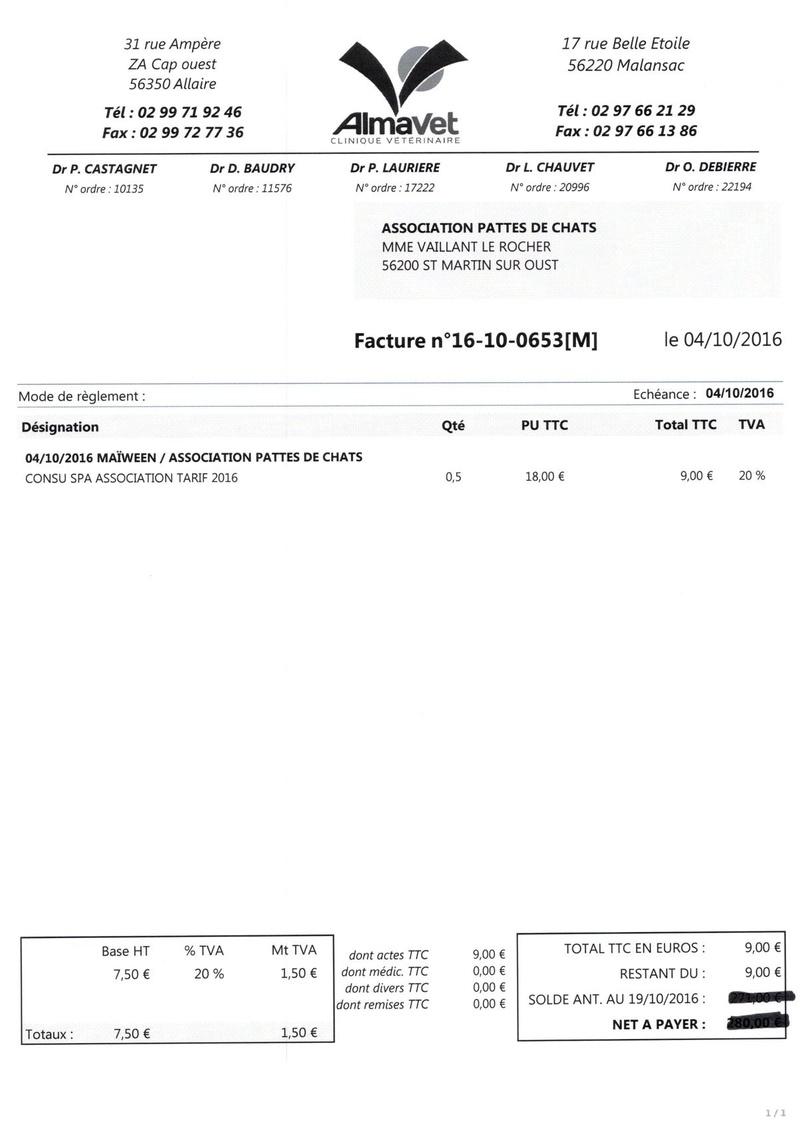 aide factures vétérinaire pour pattesdechats Ccf19113