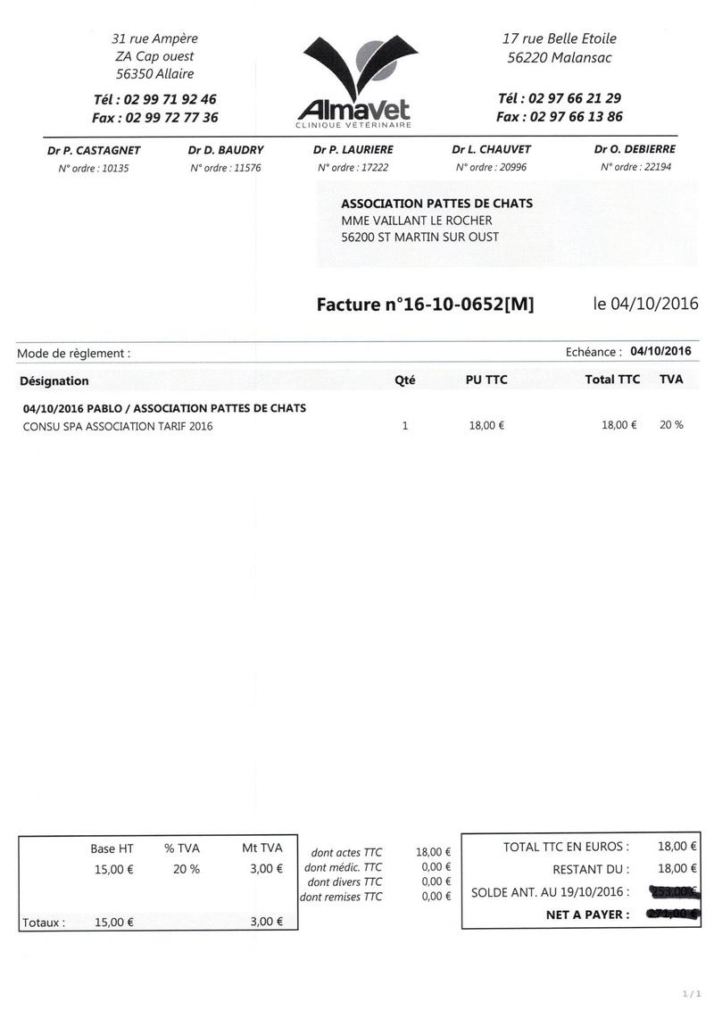 aide factures vétérinaire pour pattesdechats Ccf19115