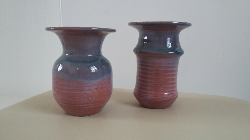 Two Little Pottery Vases with Unidentified Mark 20161029