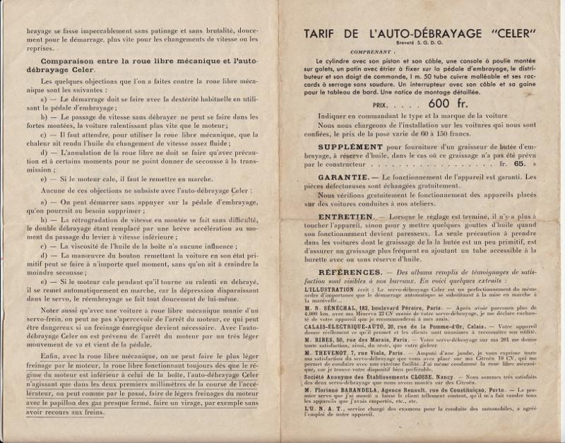 Auto-débrayage CELER, Ets CELER à Levallois-Perret 1938... Auto-d12