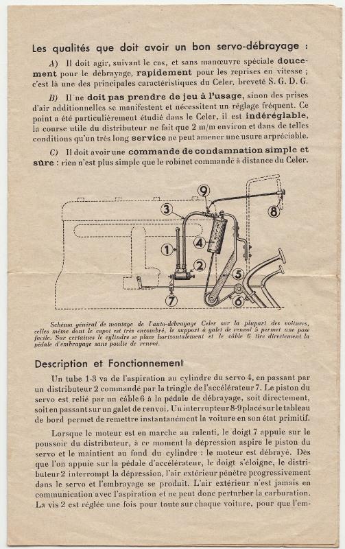 Auto-débrayage CELER, Ets CELER à Levallois-Perret 1938... Auto-d13