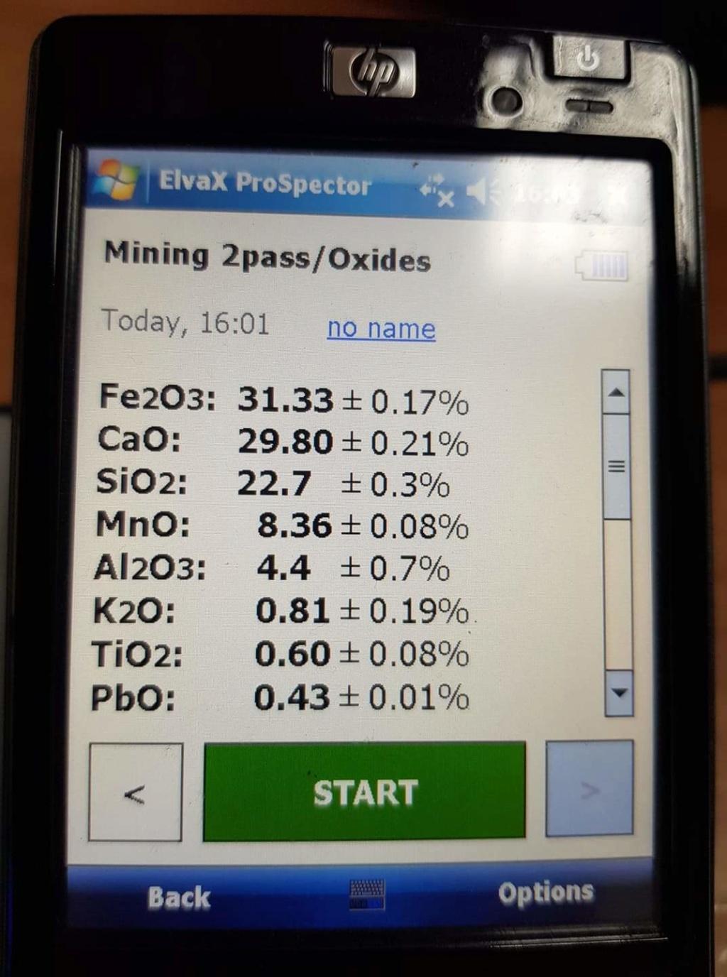 Силна минерализация на тестови камъни Receiv26