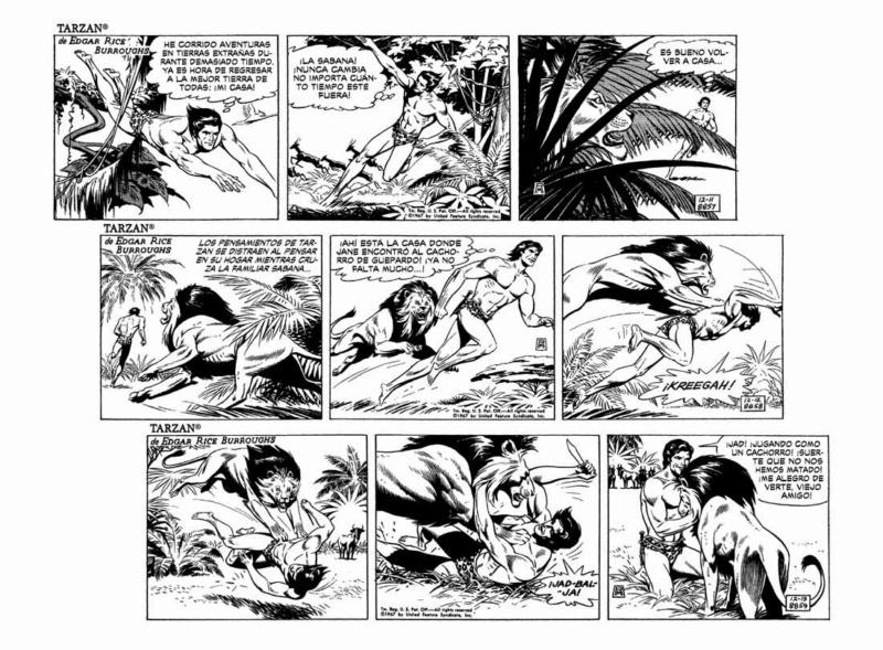 El arte del comic y la ilustración Tarzan16