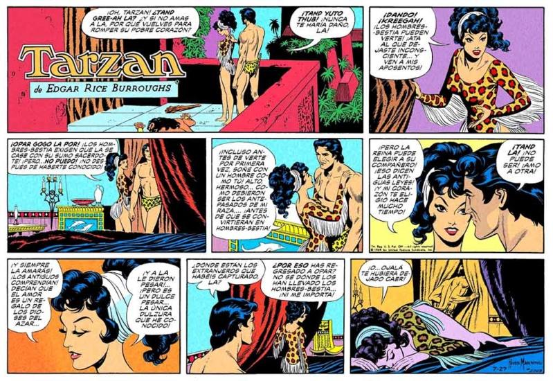 El arte del comic y la ilustración Tarzan17