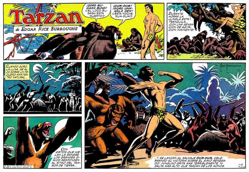 El arte del comic y la ilustración Tarzan18