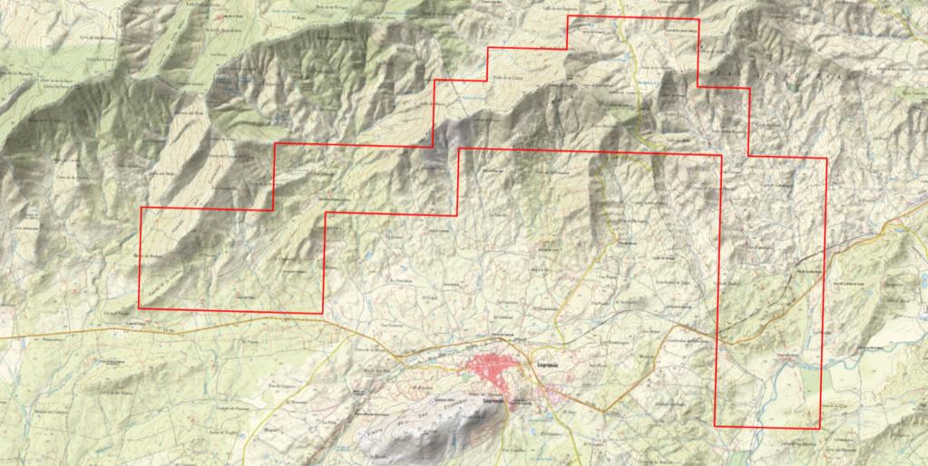 Prospecciones mineras en Cañamero Mapa_m10