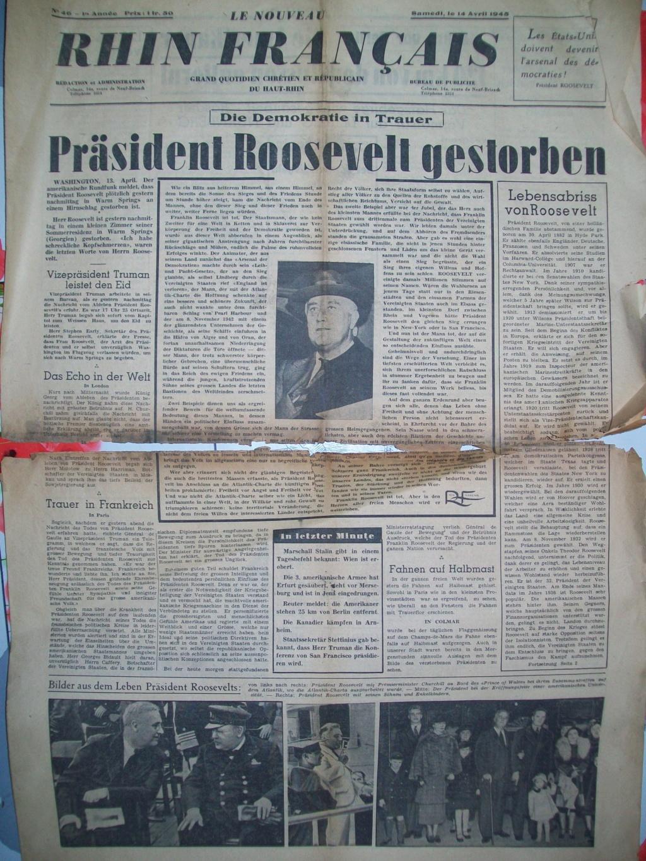 Mai-septembre 1945 : les journaux de la fin de la Seconde Guerre mondiale 100_6512