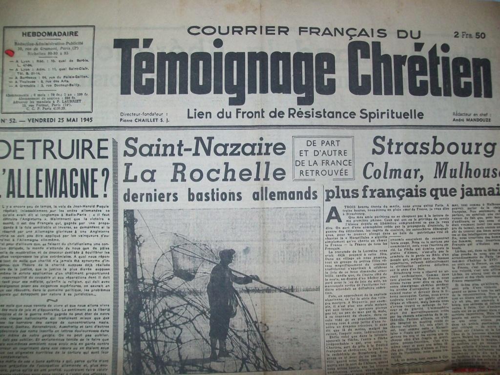 Mai-septembre 1945 : les journaux de la fin de la Seconde Guerre mondiale 100_6528