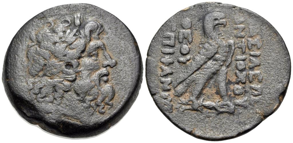AE33 de Antíoco IV Epífanes. Águila ptolemaica sobre rayo. Antioquía Image010